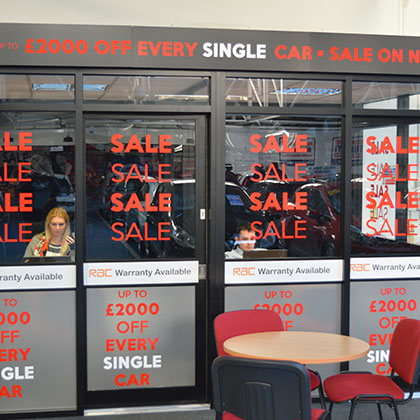 Printed Vinyl Window Graphics - DWJ Display