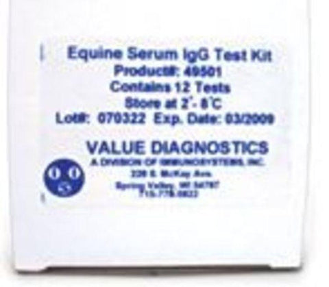 DVM RAPID TEST II Equine IgG Test Kit, Serum/Plasma 12/kit