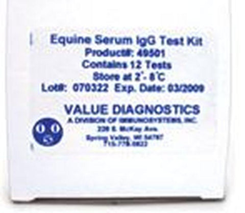DVM RAPID TEST II Bovine IgG Test Kit, Colostrum 12/kit
