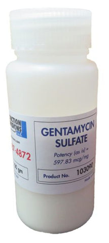 GENTAMICIN SULFATE - 100 gram bottle