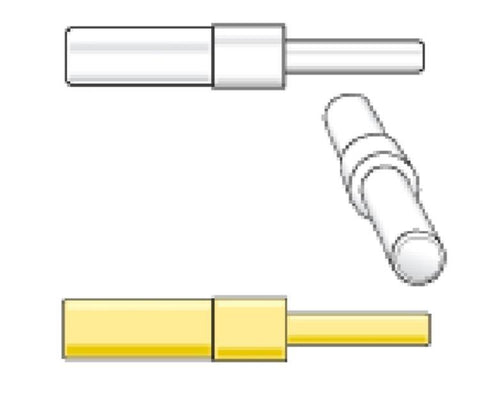 STRAW ADAPTERS (YELLOW) with 1/2cc Straw - Yellow  (10/pk)