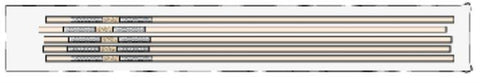 STRAW, 1/2cc w/W&P Sterilized Clear (5/pk)