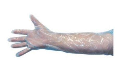 Glove, Shoulder Length Blue Sterilized Ind. Wrapped