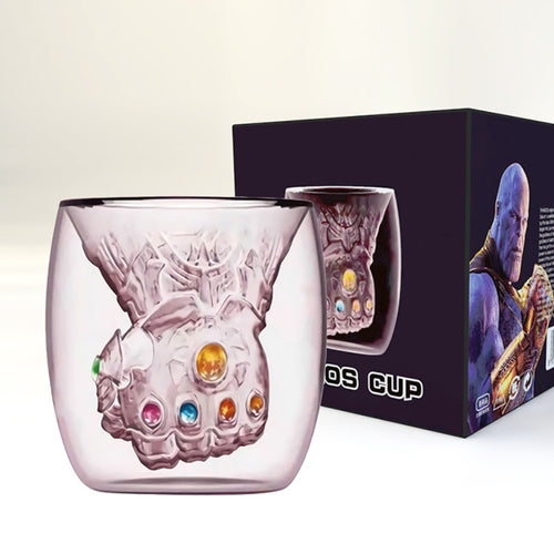 Thanos Infinity Gauntlet Glove Heat-resistant Double Wall Glass Cup for Coffee, Tea, Whiskey and Spirits | Cocktails
