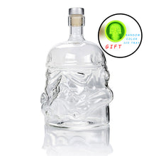 Load image into Gallery viewer, Cool Star Wars Storm Trooper Helmet Whiskey Decanter and Drinking Glass | Crystal Glass Spirits or Wine Decanter Bottle | Buy as a set or individually