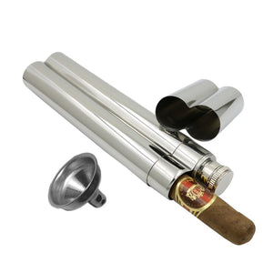 Dual Purpose Cigar/Whisky Flask