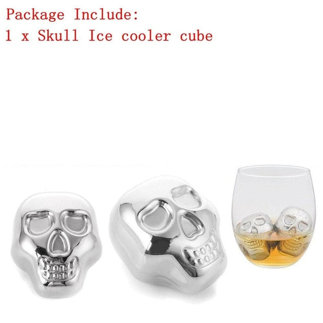 Stainless Steel Skull Ice Cube