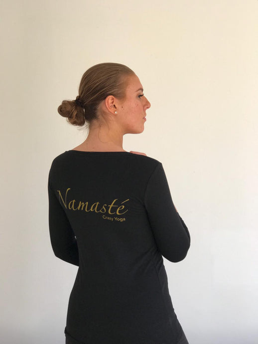 T shirt Namasté -  black