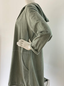 Long cardigan Ohm - army  NEW