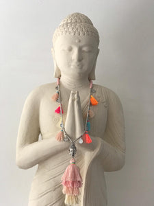 Buddha Necklace - Multicolour light pink