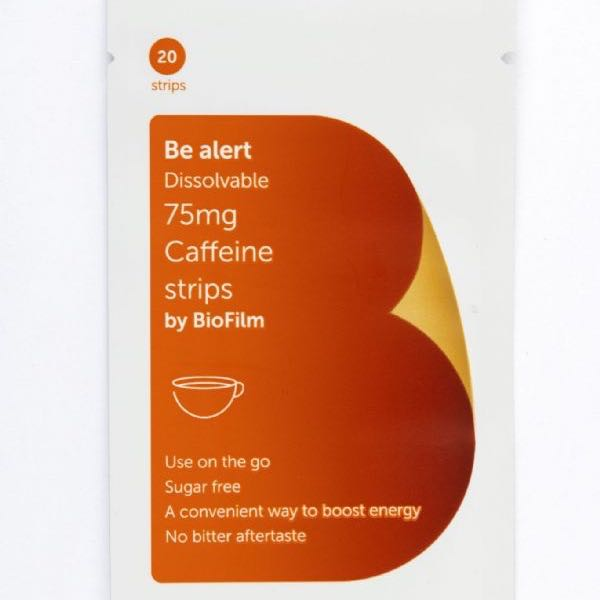 Be alert 75 Mg Caffeeine Strips
