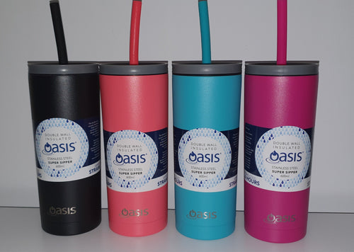Oasis Super Sipper Insulated Tumbler 600ml - Gift a Little gift shop