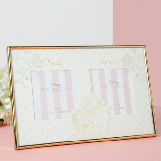 Wedding frame: Beauty and the Beast double frame - Gift a Little gift shop