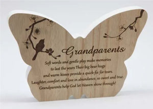 Sincerity Butterfly Sentiment Plaque Grandparents-Gift a Little gift shop