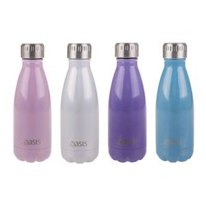 Oasis 350ml Drink Bottle Lustre assorted colours -Personalise-Gift a Little gift shop