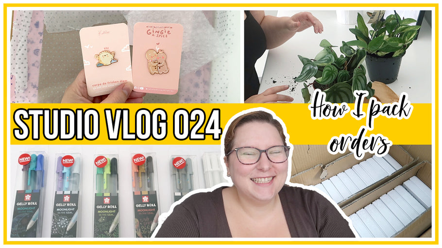 Studio Vlog - How I pack orders, Katnipp happy mail, new products & future plans & plant care