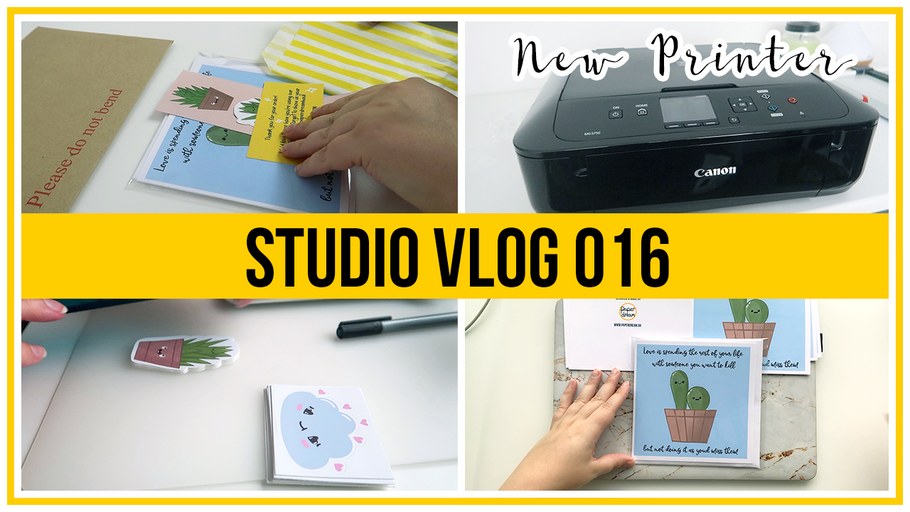 Studio Vlog - New printer unboxing, sharing print tips, preparing for a sale & art block chat