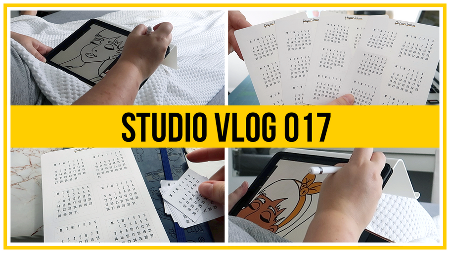 Studio Vlog - Making Bujo Mini Stickers & DTIYS using Procreate on the iPad