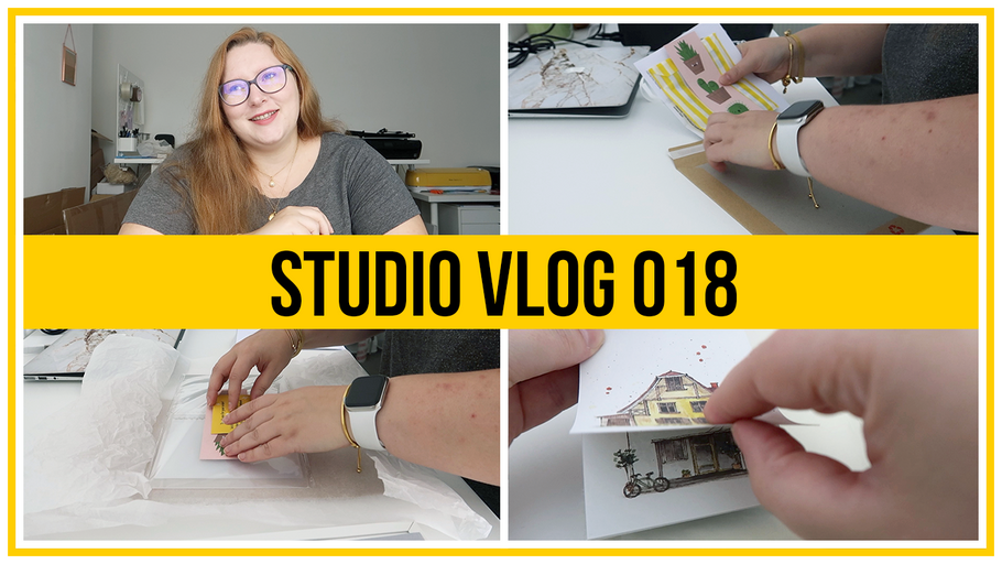 Studio Vlog - Relaxing ASMR Etsy Order Packing & Art Haul