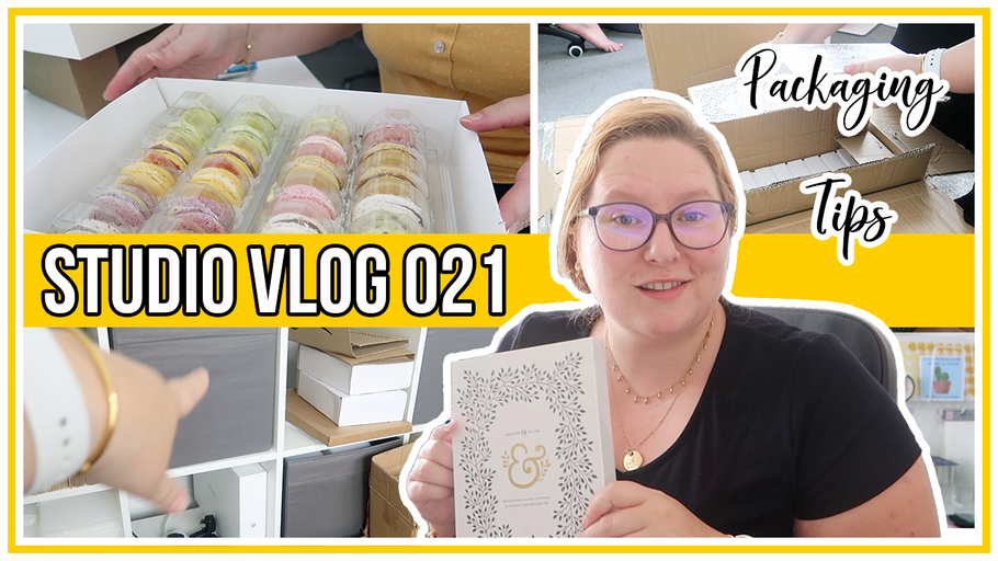 Studio Vlog - Packaging tips & ordering wholesale - Archer & Olive Bullet Journals Arrive!!