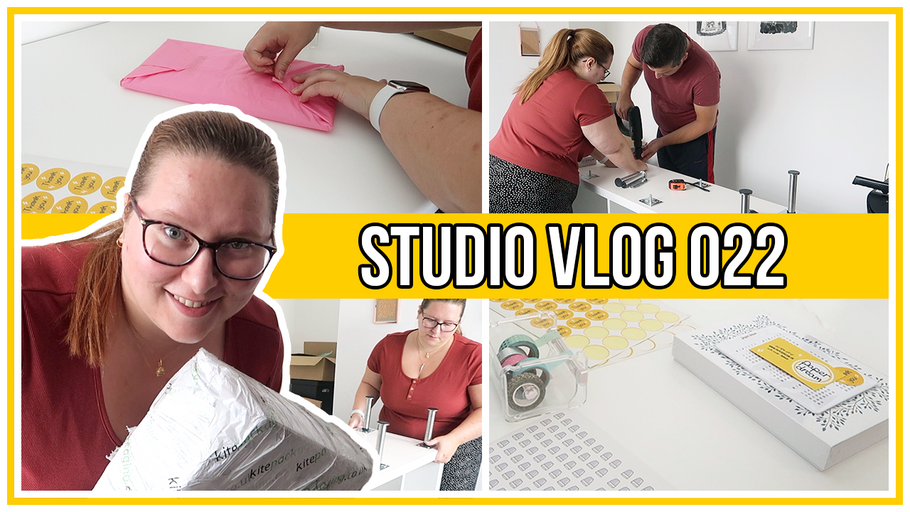 Studio Vlog - Huge order packing session & rearranging the studio AGAIN