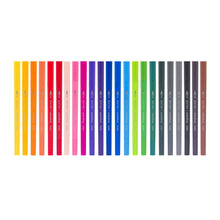 Load image into Gallery viewer, Creatives 24 colour fineliner brush pen set colours Bruynzeel - Paper Dream