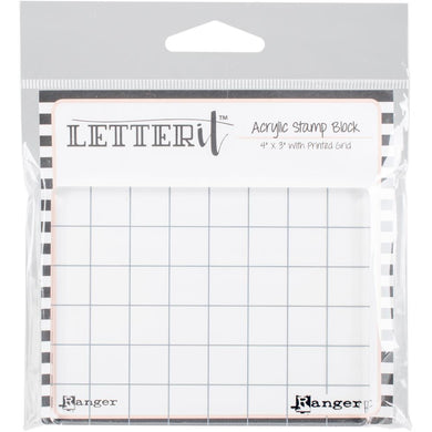 4x3 acrylic stamp block with grid lines from Ranger - Paper Dream