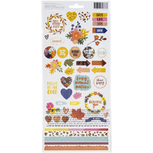 将图片加载到图库查看器,Amy Tangerine Late Afternoon Cardstock Stickers Back American Crafts - Paper Dream