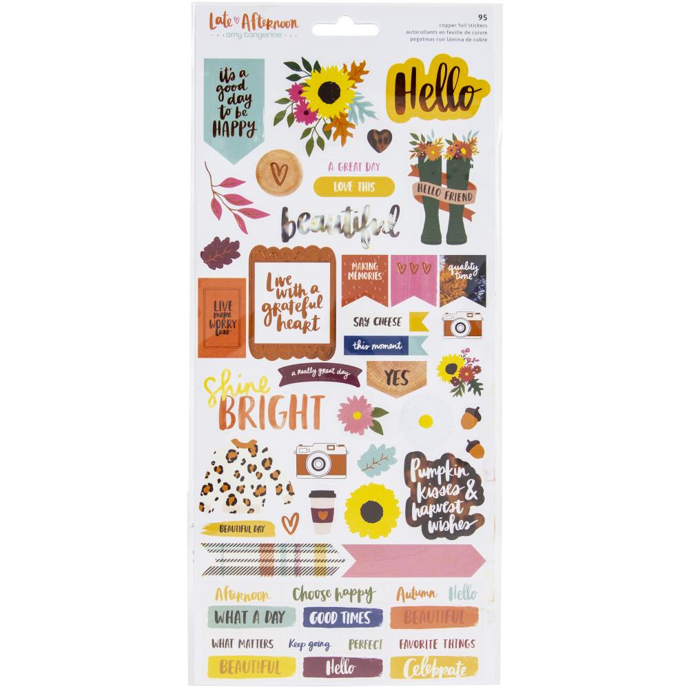 Amy Tangerine Late Afternoon Cardstock Stickers American Crafts - Paper Dream