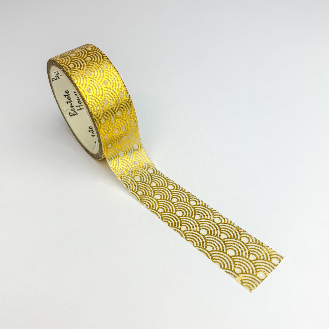 Art deco gold foil washi tape