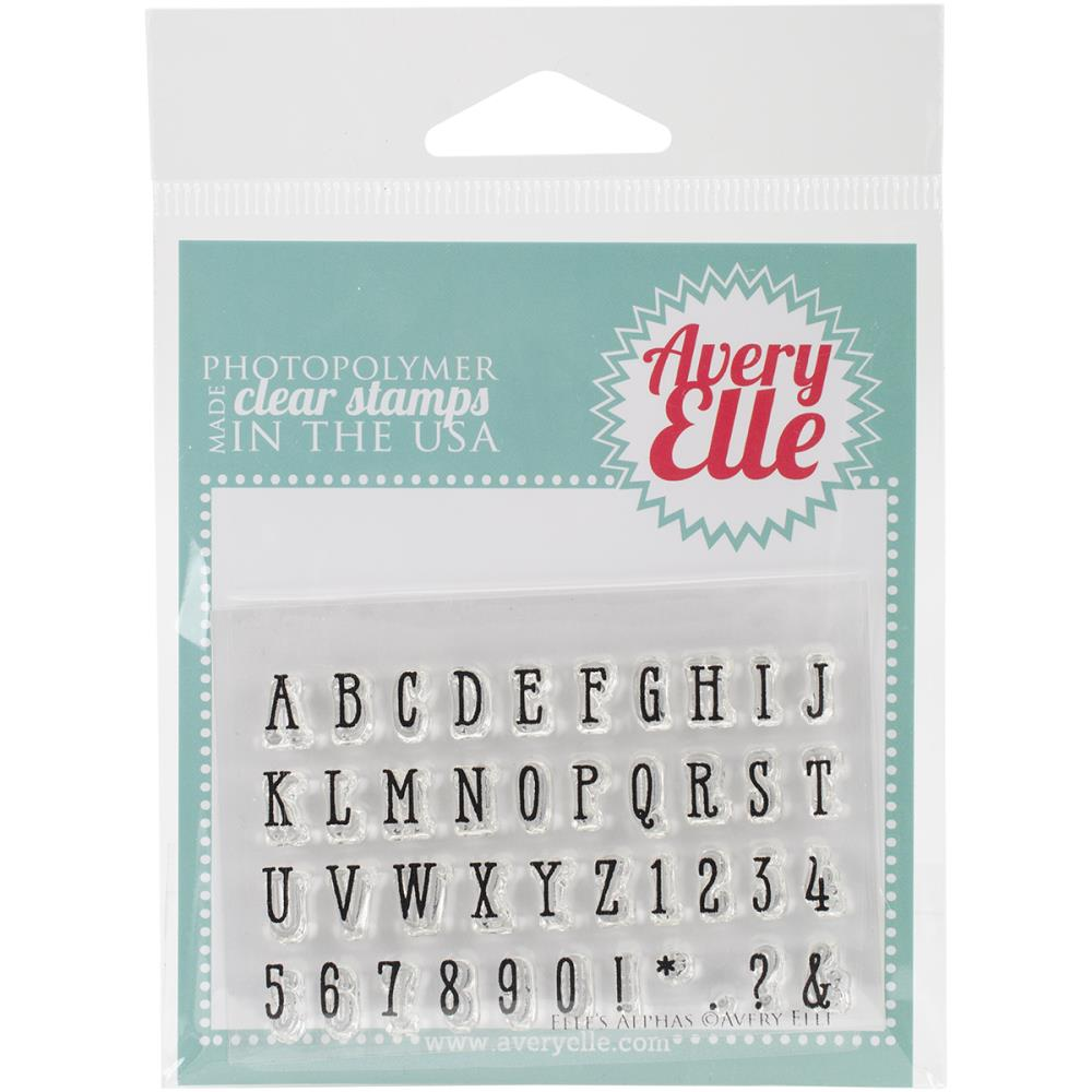 Avery elle clear alphabet and numbers stamp set - Paper Dream