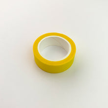 Load image into Gallery viewer, Bright Yellow solid colour washi tape roll