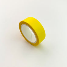 Load image into Gallery viewer, Bright Yellow solid colour washi tape side