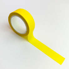 Load image into Gallery viewer, Bright Yellow solid colour washi tape