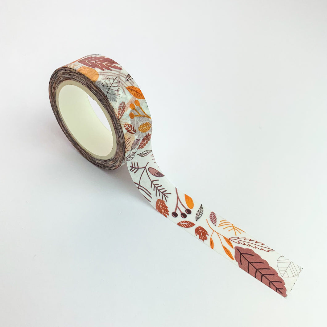 brown leaves washi tape