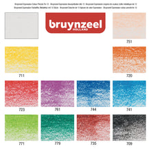 Charger l'image dans la galerie, Bruynzeel expression 12 colour pencils tin swatches - Paper Dream
