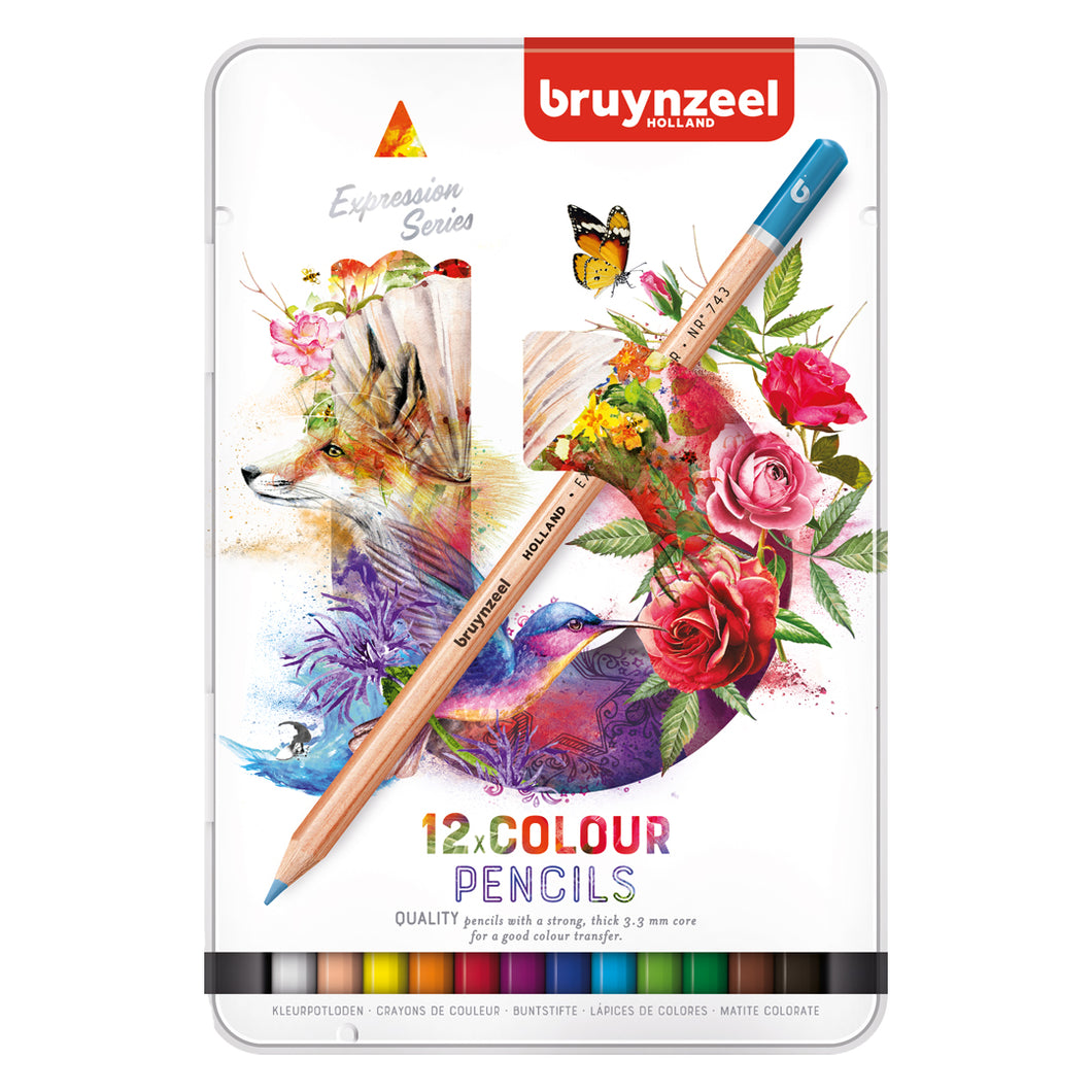 Bruynzeel expression 12 colour pencils tin - Paper Dream