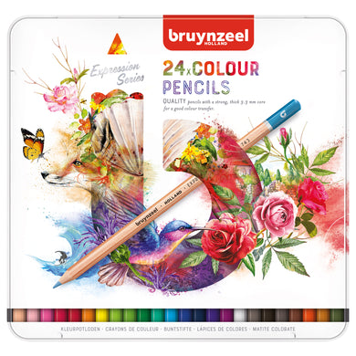 Bruynzeel expression 24 colour pencils tin - Paper Dream