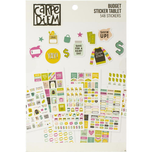 Carpe Diem Budget Planner Sticker Book - Paper Dream