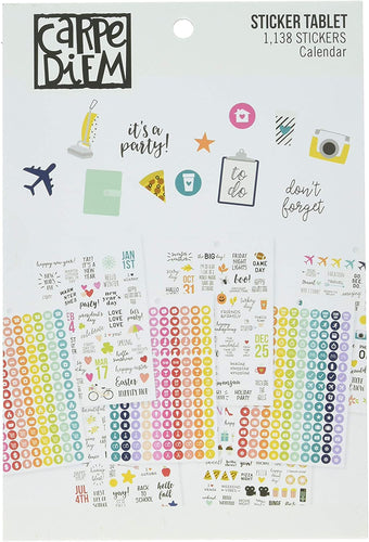 Carpe Diem Calendar Planner Sticker Book - Paper Dream