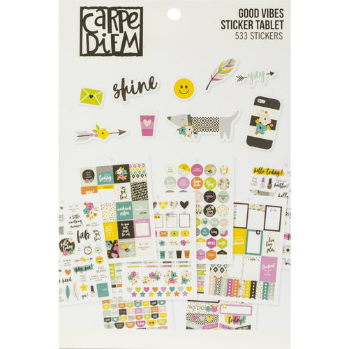 Carpe Diem Good Vibes Planner Sticker Book - Paper Dream