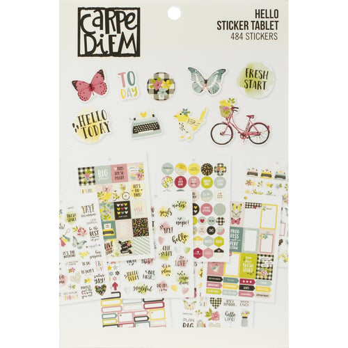 Carpe Diem Hello Planner Sticker Book - Paper Dream