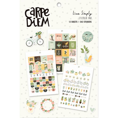 Carpe Diem Live Simply Planner Sticker Book - Paper Dream