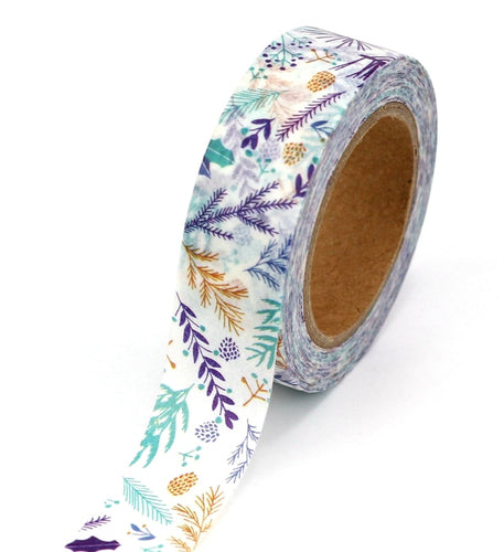 Colourful leaves washi tape top