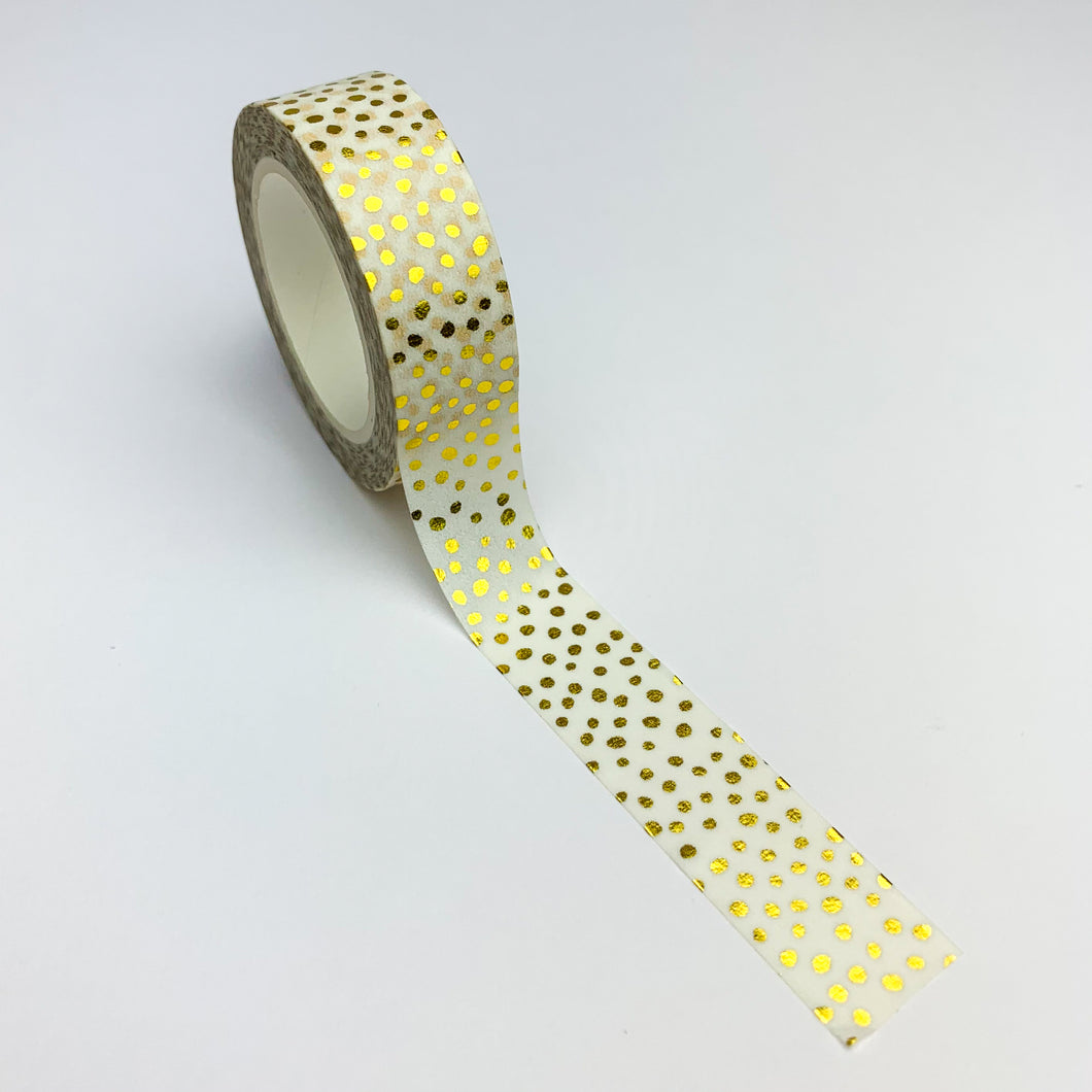 Dotty gold foil washi tape display
