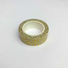將圖片載入圖庫檢視器 Dotty gold foil washi tape roll