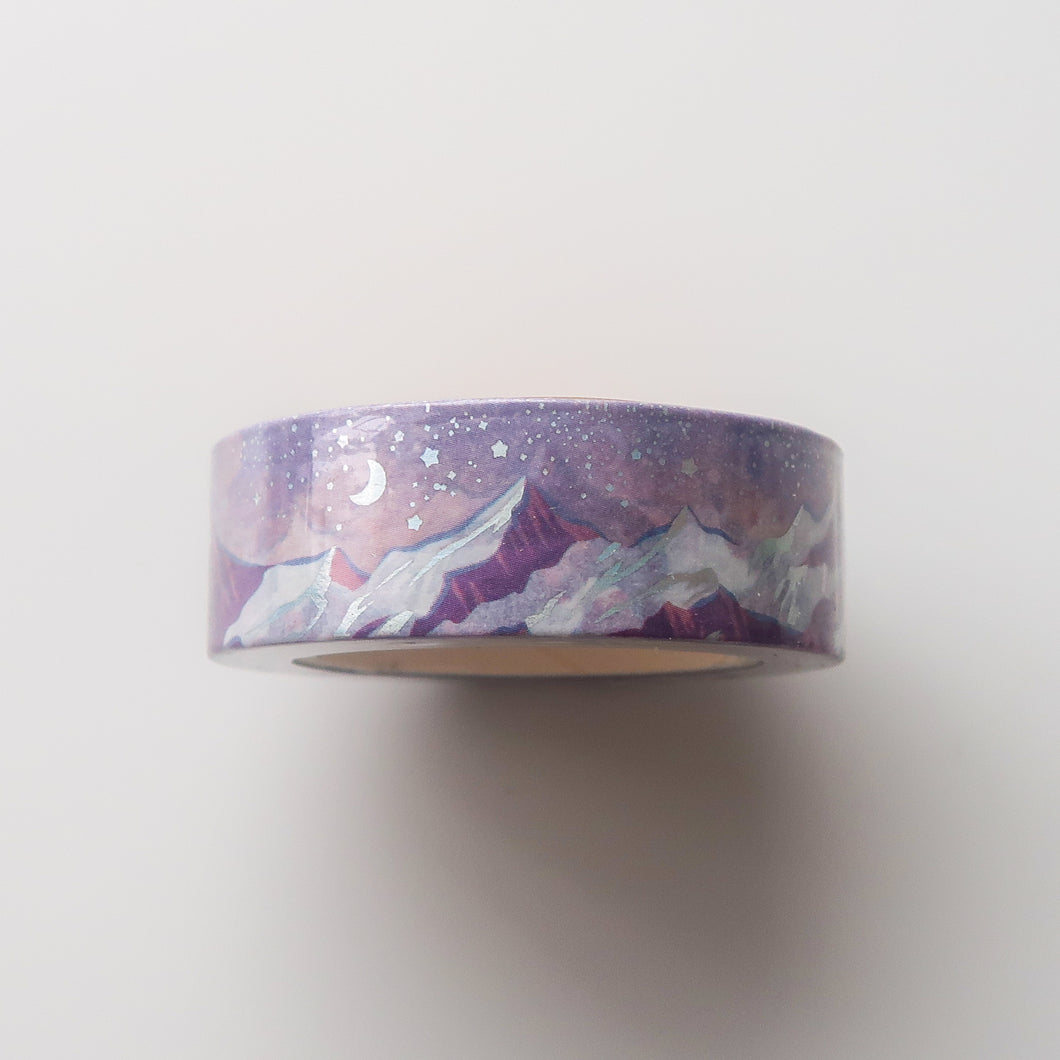 Dusky Mountain Foiled Washi Tape