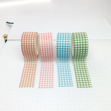 Load image into Gallery viewer, Gingham washi tape set front