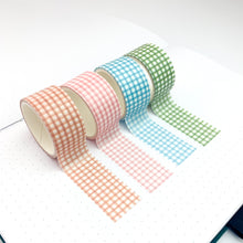 Load image into Gallery viewer, Gingham washi tape set