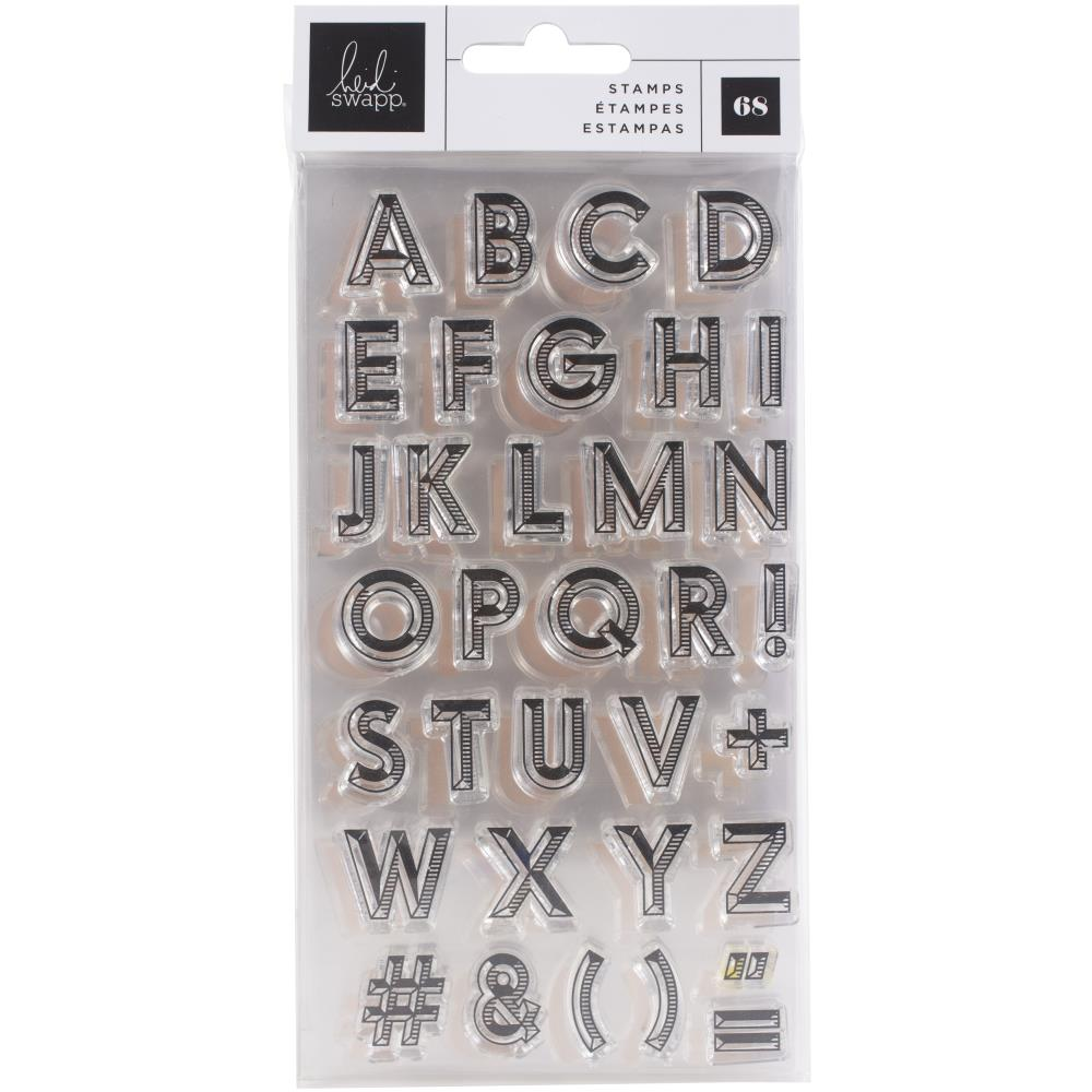 Heidi Swapp Old School Alphabet Clear Stamp Set - Paper Dream